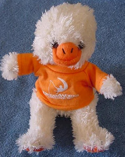 Dreamworks Animation SKG T-Shirt Duck Stuffed Plush 6""