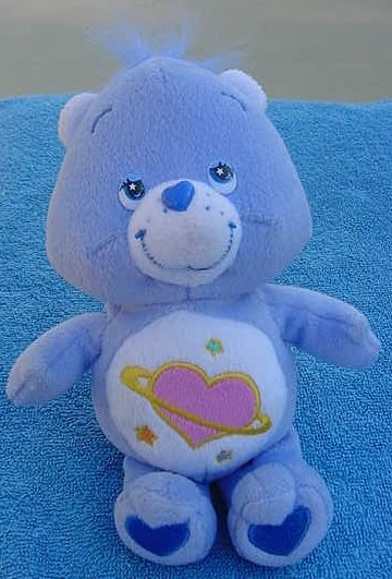 Care Bears Day Dream Bear Blue Stuffed Plush 2004