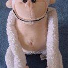"Carousel Toy White Chubby Monkey Stuffed Plush 8"""