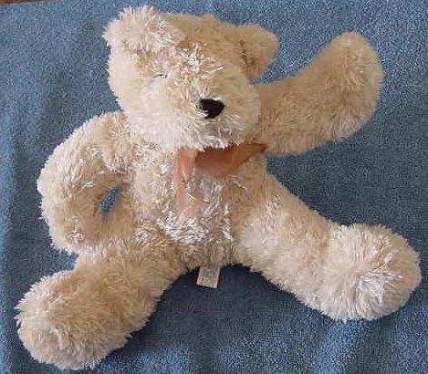 "Circus Circus Casino Waving Pose Bear Stuffed Plush 7"""