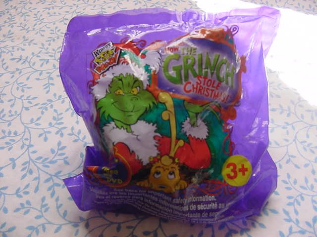 Wendy's Grinch Tree Ornament Max the Dog MIP