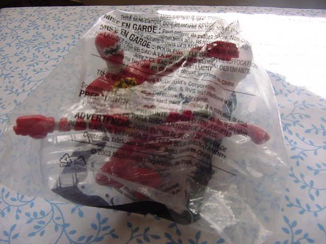 McDonald's Power Rangers Dinothunder # 1 Red MIP