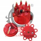 Brand Dragon Fire Cap and Rotor Red Male Brass Terminals Billet Pro Billet Distributor Oem Fit CRR8-