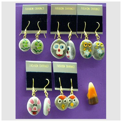 Pet Rock Earings