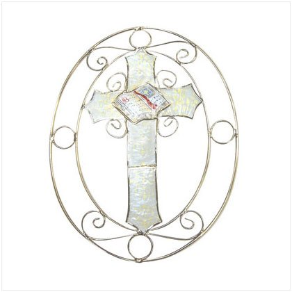 Shell Cross and Bible Sun Catcher