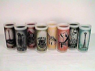 Set of 8 Glasses - 1962 Seattle World's Fair