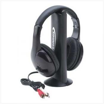 WIRELESS HEADPHONES 5 IN 1 W/FM RADIO