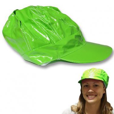 Wholesale Lot (6) Ladies Neon Green Lime Newsboy Hats Ball Caps New!