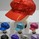 Wholesale Lot (6) Ladies Fashion Sequin Newsboy Hat Ball Cap New!