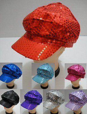 Wholesale Lot (6) Ladies Fashion Sequin Newsboy Hat Ball Cap New!