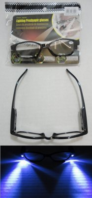Lot (12) Lighted LED Reading Glasses w/Batteries Assorted Strengths NEW!