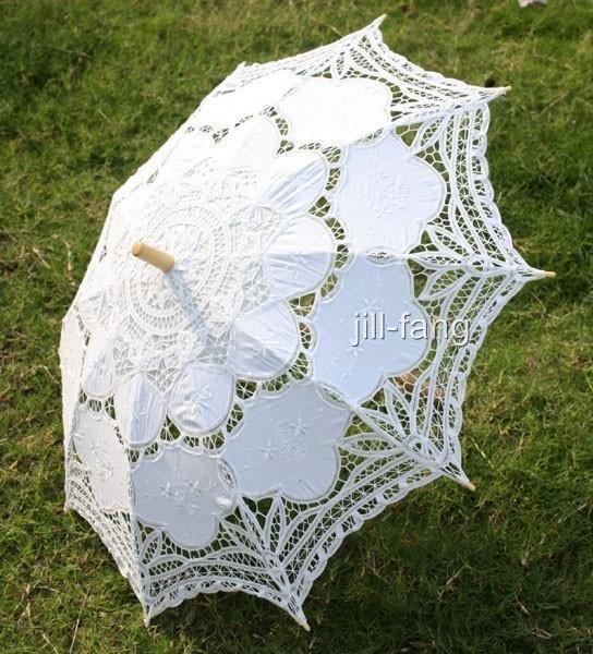 Battenburg White Lace Parasol Umbrella Wedding Bridal 30 Inch