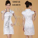 Chinese clothing qipao Embroidered dress gown 120442 white size 30-36 in stock free shipping