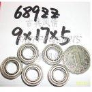 (1 pcs) 689 ZZ Miniature Bearings ball Mini bearing 9x17x5 mm 9*17*5 689Z 689ZZ 2Z