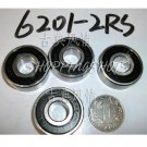 (100) 6201-2RS Deep Groove Ball Bearing 12x32x10 bearings ABEC1 12*32*10 mm 6201RS free shipping