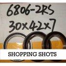10 pcs thin 6806-2RS bearings Ball Bearing 6806RS 30X42X7 30*42*7 mm ABEC1 RS