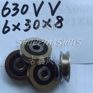 (10 pcs) 6mm V Groove Sealed Ball Bearings 0.236 inch vgroove bearing 630VV 6*30*8