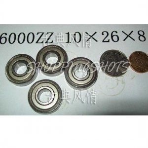 10 pcs 6000-2Z ZZ Deep Groove Ball Bearing Quality 10x26x8 10*26*8 mm 6000Z 6000ZZ free shipping