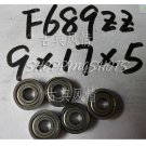 1pc F689ZZ 9x17x5 Flanged 9*17*5 mm F689Z Miniature Ball Radial Bearing F689 ZZ free shipping