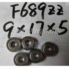 10pcs F689ZZ 9x17x5 Flanged 9*17*5 mm F689Z Miniature Ball Radial Bearing F689 ZZ free shipping