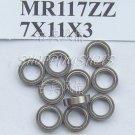 (1pc) MR117 MR117Z Miniature Bearings ball Mini bearing 7X11X3 mm 7*11*3 MR117zz free shipping