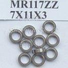 (10pcs) MR117 MR117Z Miniature Bearings ball Mini bearing 7X11X3 mm 7*11*3 MR117zz free shipping