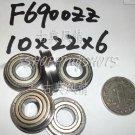 10pcs F6900 10x22x6 Flanged 10*22*6 mm F6900Z Miniature bearings Bearing F6900ZZ  free shipping