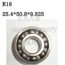 "10pcs R16 open 1 x 2 x 3/8"" english inch Bearing Miniature Ball Radial Bearings  free shipping"