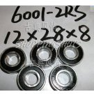 100 pcs 6001-2RS RS Quality bearing 6001RS bearings ABEC1 12*28*8 12X28X8 mm ball  free shipping