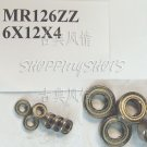 (10pcs) MR126 MR126Z Miniature Bearings ball Mini bearing 6X12X4 mm 6*12*4 MR126zz  free shipping