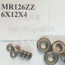 (100pcs) MR126 MR126Z Miniature Bearings ball Mini bearing 6X12X4 mm 6*12*4 MR126zz  free shipping