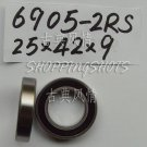 50 pcs thin 6905-2RS RS bearings Ball Bearing 25X42X9 25*42*9 mm 6905RS quality  free shipping
