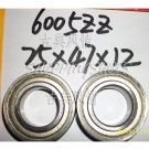 (10pcs) 6005-2Z ZZ Deep Groove Ball Bearing ABEC1 25x47x12 mm 25*47*12 6005Z 6005ZZ  free shipping