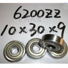 50 pcs 6200-2Z ZZ Deep Groove Ball Bearing ABEC1 10x30x9 10*30*9 mm 6200ZZ Z 6200Z  free shipping