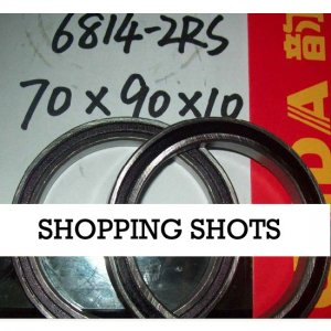 1pc thin 6814-2RS RS bearings Ball Bearing 6814RS 70X90X10 70*90*10 mm 6814 2RS  free shipping