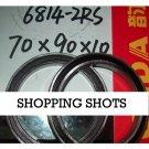 10pcs thin 6814-2RS RS bearings Ball Bearing 6814RS 70X90X10 70*90*10 mm 6814 2RS  free shipping