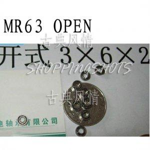 1pcs MR63 open Miniature Bearings ball Mini bearing 3X6X2 3*6*2 mm quality   free shipping