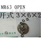 100pcs MR63 open Miniature Bearings ball Mini bearing 3X6X2 3*6*2 mm quality   free shipping