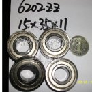 (10pcs) 6202-2Z ZZ Deep Groove Ball Bearing ABEC1 15x35x11 6202Z 15*35*11 mm 6202ZZ  free shipping