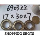 10 pcs 6903-2Z ZZ bearings Ball Bearing 6903ZZ 17X30X7 mm 17*30*7 6903Z 6903ZZ  free shipping