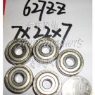 (100pcs) 627-ZZ 2Z bearings Deep Groove Ball Bearing 7X22X7 mm 7*22*7 627Z 627ZZ  free shipping