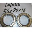 (10pcs) 6010-2Z ZZ Deep Groove Ball Bearing ABEC1 50x80x16 50*80*16 6010Z 6010ZZ  free shipping