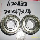 10 pcs 6204-2Z ZZ Deep Groove Ball Bearing ABEC1 20x47x14 20*47*14 mm 6204ZZ Z  free shipping