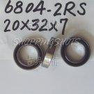 100 PCS thin 6804-2RS RS bearings Ball Bearing 6804RS 20X32X7 20*32*7 mm ABCE1  free shipping