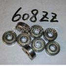 (1) 608 ZZ Miniature Bearings ball Mini bearing 8x22x7 mm 8*22*7 608Z 608ZZ 2Z  free shipping