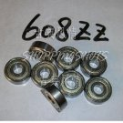 (100) 608 ZZ Miniature Bearings ball Mini bearing 8x22x7 mm 8*22*7 608Z 608ZZ 2Z  free shipping