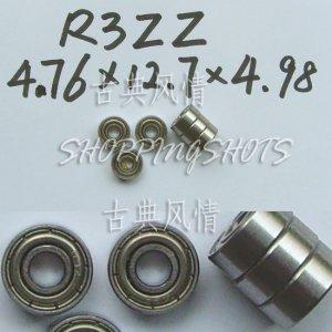 "1pcs R3-2Z ZZ Deep Groove Ball Bearing ABEC1 3/16"" x 1/2"" x .196 inch R3ZZ ABEC1  free shipping"