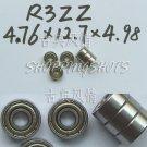 "10pcs R3-2Z ZZ Deep Groove Ball Bearing ABEC1 3/16"" x 1/2"" x .196 inch R3ZZ ABEC1  free shipping"