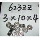 1pc 623-2Z 623 ZZ Deep Groove Ball Bearing Quality 3x10x4 3*10*4 mm ABEC1 2Z Z  free shipping