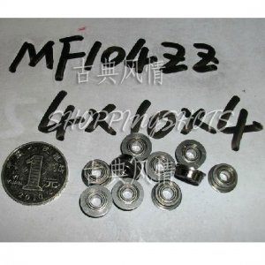 1 pcs MF104 4X10X4 Flanged 4*10*4 bearings Miniature Ball Radial Bearing MF104ZZ  free shipping